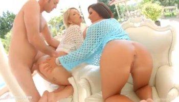 Panty sniffing landlord fucks hot Latina